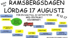 Programmet klart för Ramsbergsdagen
