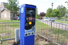 Cashless ticket machines in Elgin car parks