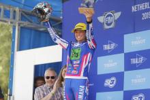黒山選手と「TY-E」が減点4/クリーン27と健闘し2位表彰台を獲得 2019 FIMトライアル世界選手権 TrialEクラス オランダGP