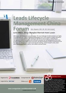 Leads Lifecycle Management China Forum Agenda