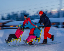 Låna en spark eller Snowracer av Hertz i Sälen