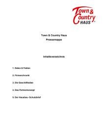 Unternehmensinformation Hausbau - Pressemappe 2019