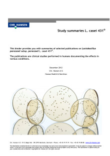 L. CASEI 431® Selected summaries