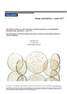 L. CASEI 431® Selected summaries