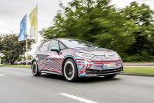 Världspremiären för Volkswagens nya elbil ID.3 närmar sig – gör debut på Frankfurtsalongen