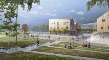 Tävlingsvinst till LINK arkitektur för världens bästa skola när det regnar