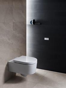 Minimal spolplatta med fri placering – ny modern badrumsdetalj