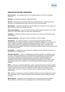 Ordlista/Nyckelord – Lungcancer