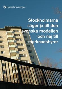 Stockholmarna säger ja till den svenska modellen