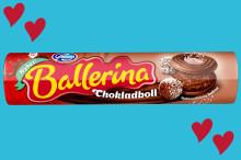 Ballerina flirtar med älskat bakverk