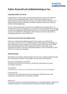 Fakta om kontroll och miljömärkning av lax
