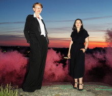 Gudrun och Gita marscherar för klimatet