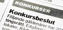 Stora företag i konkurs under maj