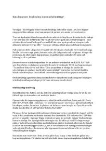 Låt parken leva - hälsning från Järva till ledamöterna i kommunfullmäktige 28 januari 2019