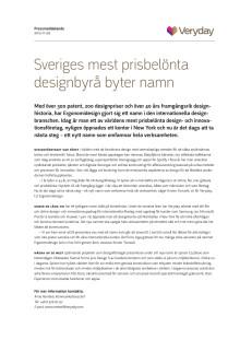 Sveriges mest prisbelönta designbyrå byter namn