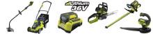 Ryobin uusi 36V Li-Ion puutarhatyökalusarja. Johdotonta vapautta : Ei polttoainetta, johtoja, eikä vaivaa!