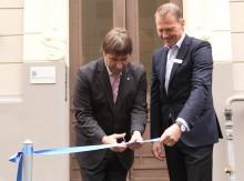 Lettlands ekonomiminister önskade NyföretagarCentrum lycka till