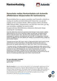 PR samarbete med Automile