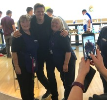 Jake Humphrey given Champions League welcome at BT Stadium House in Cardiff