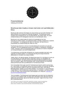 Pressmeddelande The Brewhouse Award, pdf