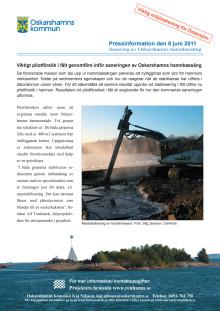 Pressinformation om stabiliseringsförsök i Oskarshamns Hamnbassäng