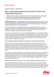 Press Release | Aon UK | Political Risk Map 2016