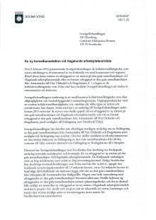 Brev till Sverigeförhandlingen 2016-03-07