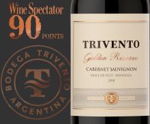 "Trivento Cabernet Sauvignon – 90p och ""excellent buy"" i Wine Spectator"