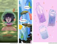 World Cleanup Day och konstutställning med tema vatten