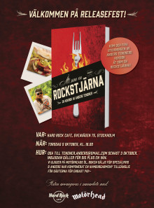 Releasefest för ÄT SOM EN ROCKSTJÄRNA på Hard Rock Café!