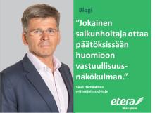 Sauli Hämäläinen: Yritysvastuullisuuteen sijoittamista tässä ajassa