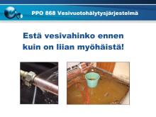 PPO 868 -vesivuotohälytysjärjestelmän esittely fi