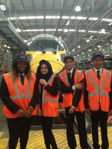 Students visit flagship Hitachi train maintenance centre