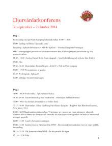 Program Djurvårdarkonferens 2014
