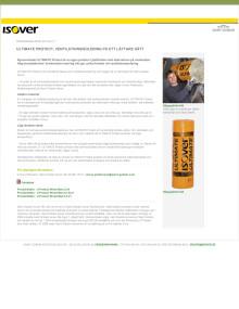 ULTIMATE Protect, ventilationsisolering på ett lättare sätt