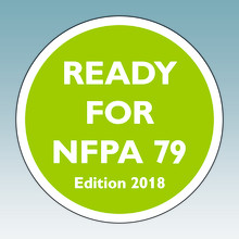 Surge protection is mandatory in accordance with NFPA 79 (2018 edition)