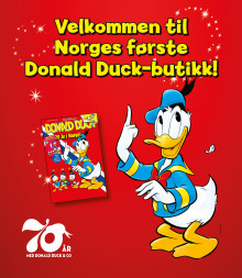 Nå kan du få en bit av Andeby – midt i Oslo! Norges første Donald Duck-butikk popper opp på Skøyen!