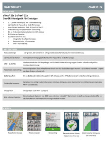 Datenblatt Garmin eTrex 22x/32x