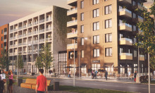 PRESSINBJUDAN: Borgarrådet Jan Valeskog sätter sitt handavtryck vid Koppången i Norra Djurgårdsstaden