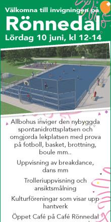 Den 10 Juni invigs nya  spontanidrottsplatsen och lekplatsen i Rönnedal - all utrustning från KOMPAN