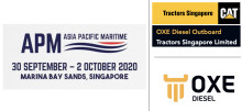OXE Diesel display at Asia Pacific Maritime by Tractors Singapore Limited 30 September - 2 October