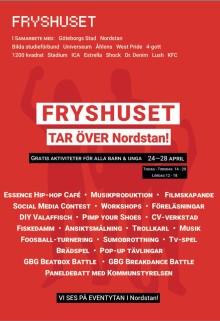 Politiker från sex partier avslutar Fryshusets event lördag 28 april