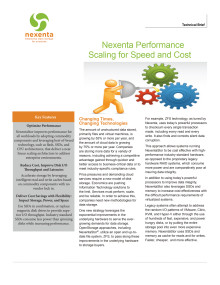Nexenta Performance Tech Brief