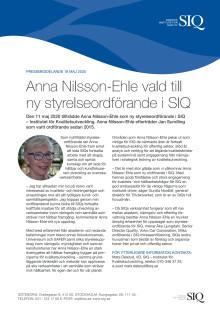 Anna Nilsson-Ehle ny styrelseordförande i SIQ