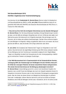 Interview mit Studienleiter Dr. Bernard Braun und HNO-Facharzt Dr. Jan Löhler