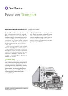 Ny branschrapport - Transportindustrin