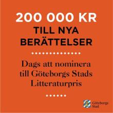 200 000 kronor till nya berättelser - dags att nominera
