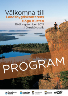 Program för Landsbygdskonferens Höga kusten 2015