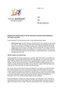 Begäran om omprövning SPV