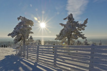 Hold jul med ski på